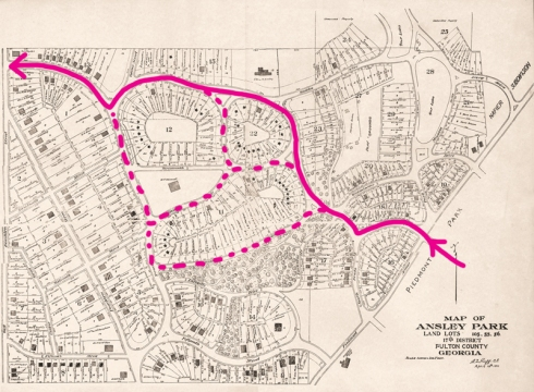 ansley park map 1911 tracks